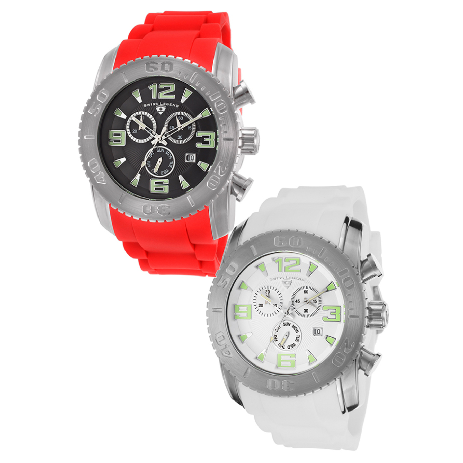 Commander Chronograph Red Silicone Black Dial Set 10067-01-RDS-SL-10067-02