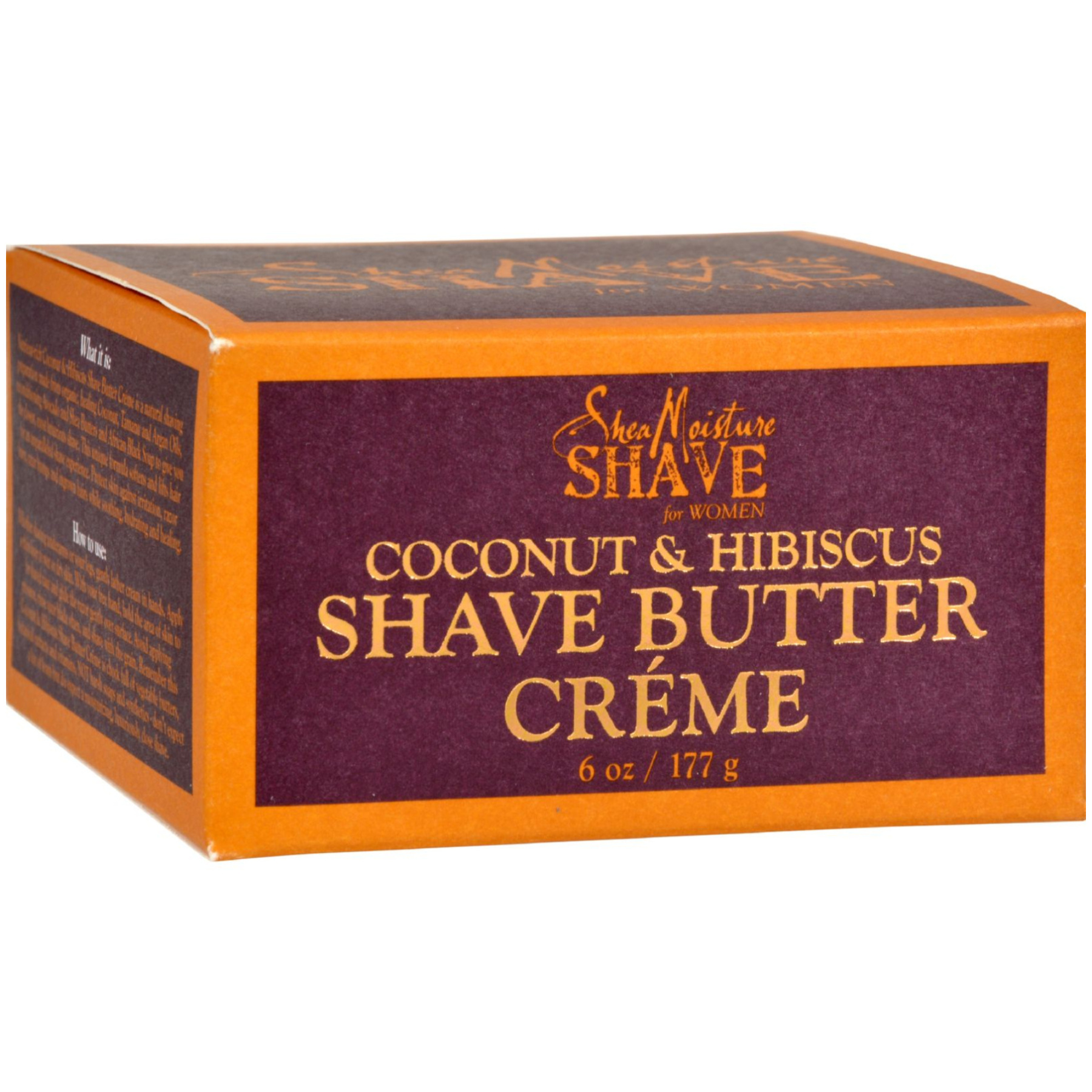 Shea Moisture Shave Cream For Women Coconut And Hibiscus 6 Oz 1090935