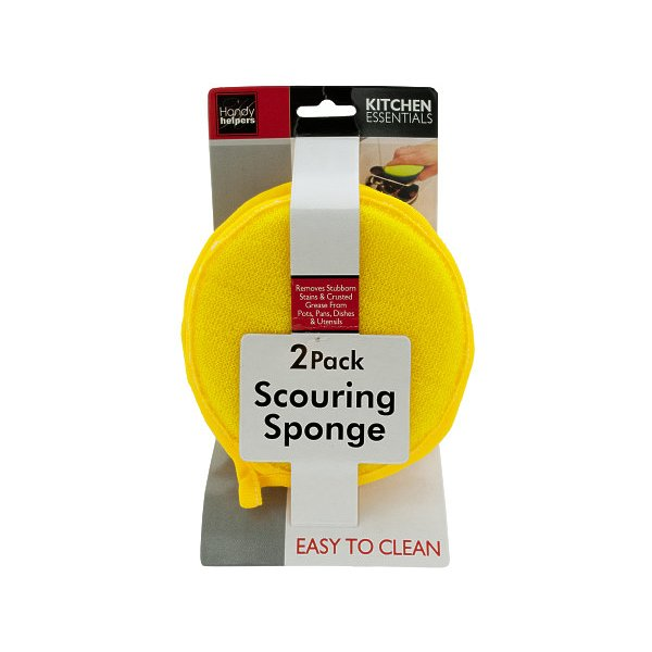 Handy Helpers Round Scouring Sponge Set Pack Of 48 HB029