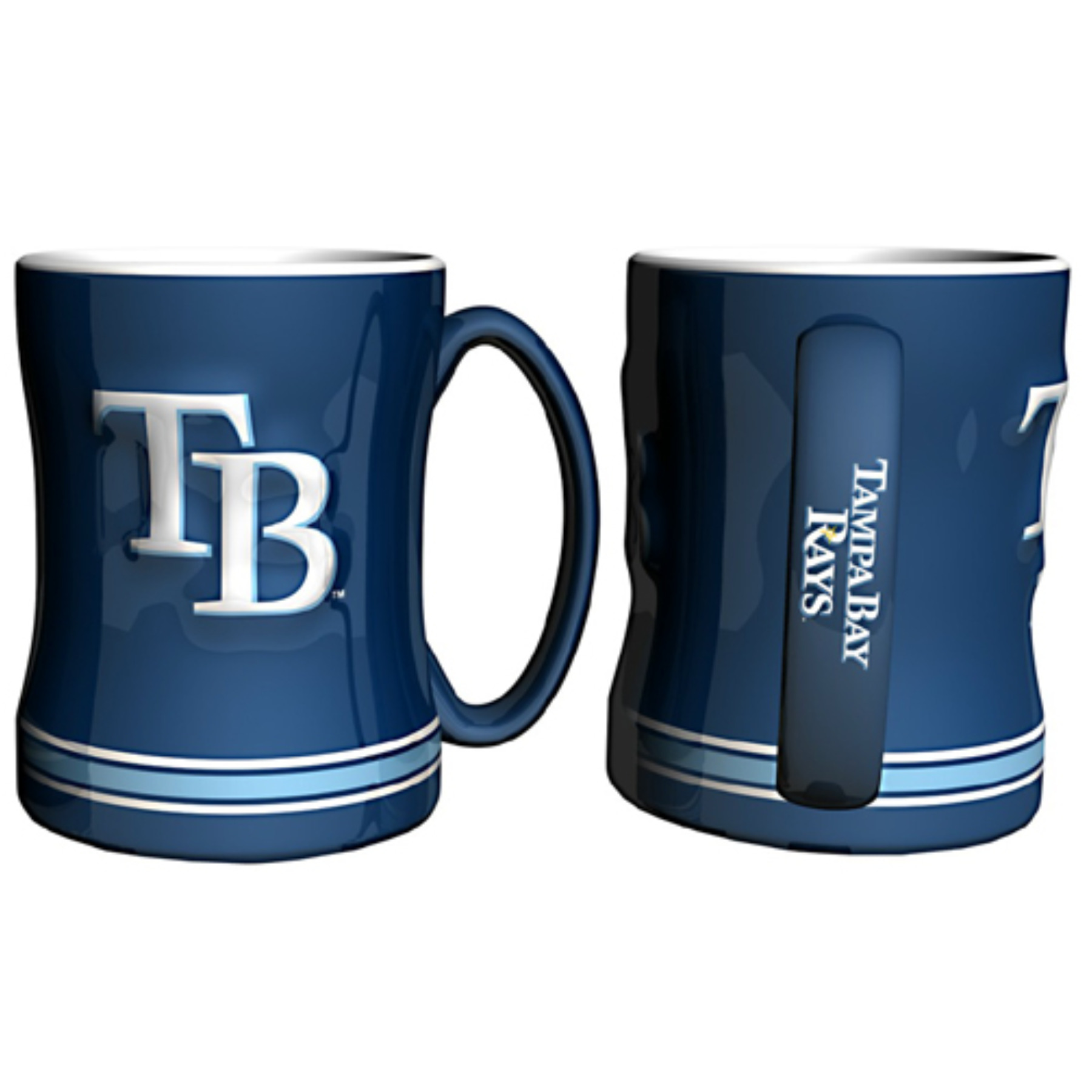 Tampa Bay Rays MLB Coffee Mug 15oz Sculpted CSY-4675710431