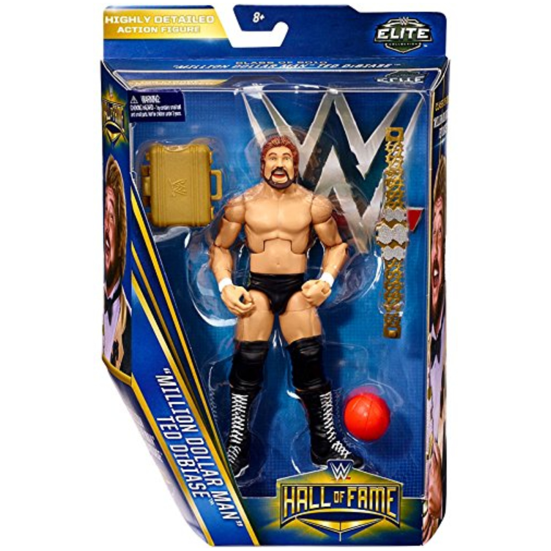 "Wwe Wrestling Elite Collection Hall Of Fame Ted ""Million Dollar Man"" Dibiase ""6"" Action Figure"