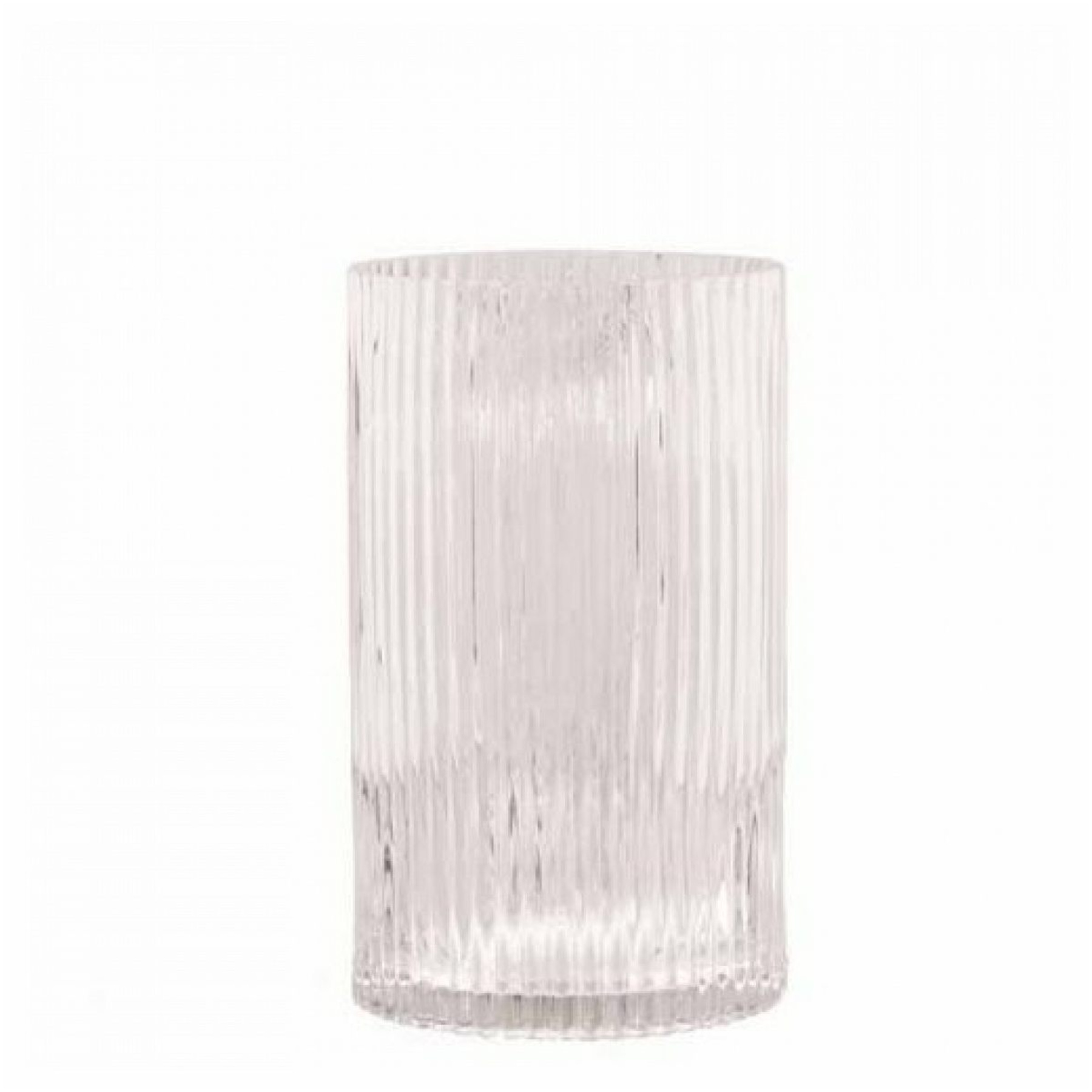 "10"" Ribbed Glass Cylinder Vase Set Of 3 OD-79374-3pcs"