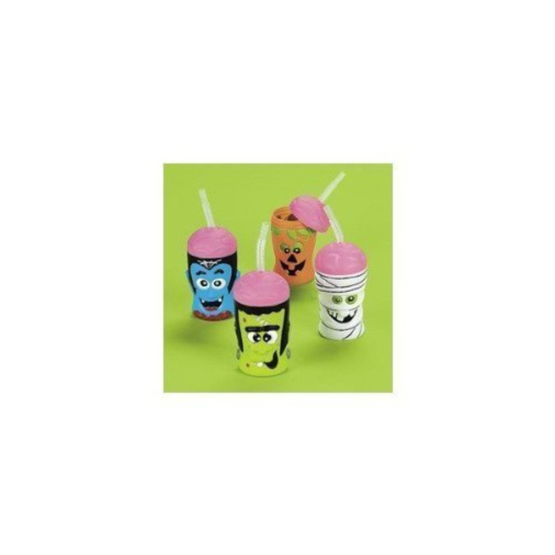 Halloween Brain Head Sipper Cups 1 Dozen Bulk
