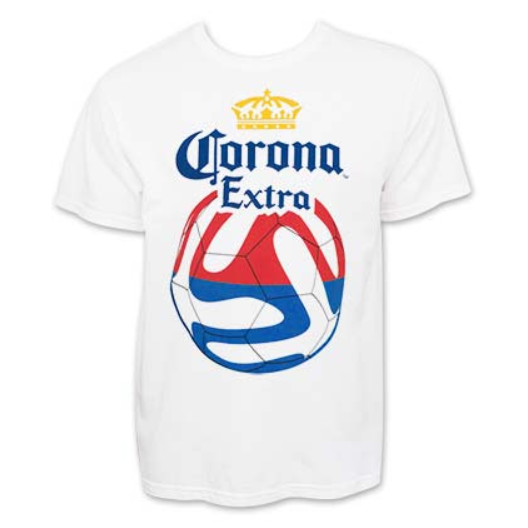 Corona Extra Red And Blue Soccer Tee Shirt M 1429241