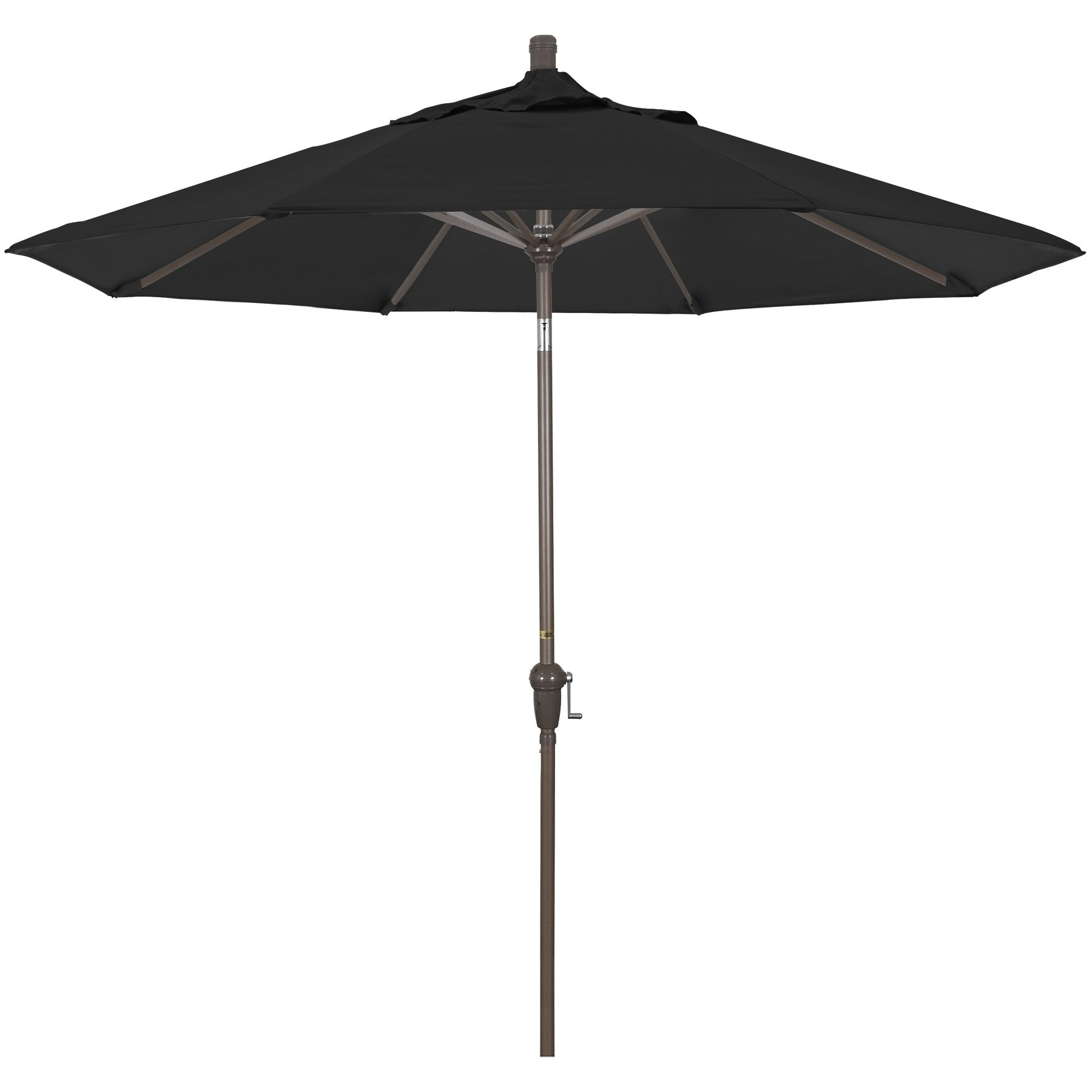 9' Market Umbrella Fabric: Pacifica Black, Frame Finish: Champagne SDAU908900-SA08