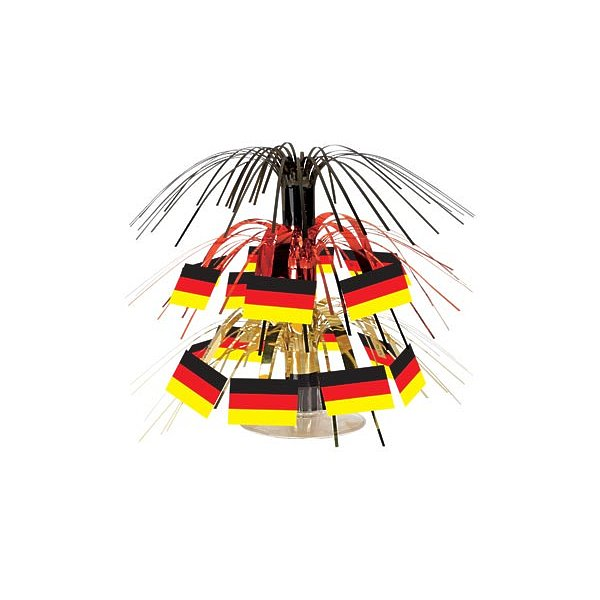 Beistle 50104 Mini German Flag Cascade Centerpiece- Pack Of 12 50104