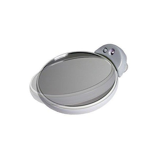 Zadro Fc30l 5x 10x Magnifcation Spot Mirror With Light White And Gray FC30L