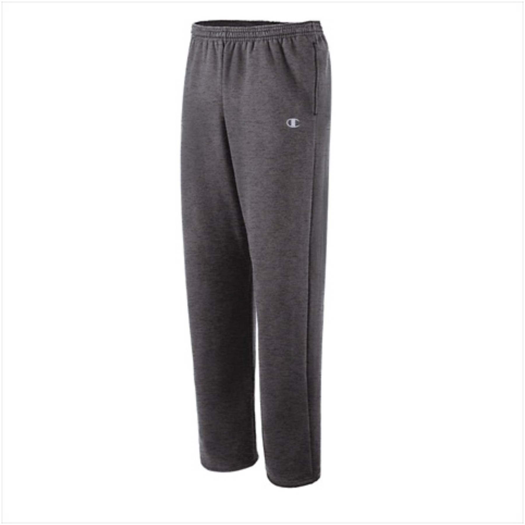 Hanes P2469 Champion Eco Fleece Open-Hem Mens Sweatpants Size Small Granite Heather 00011919619993
