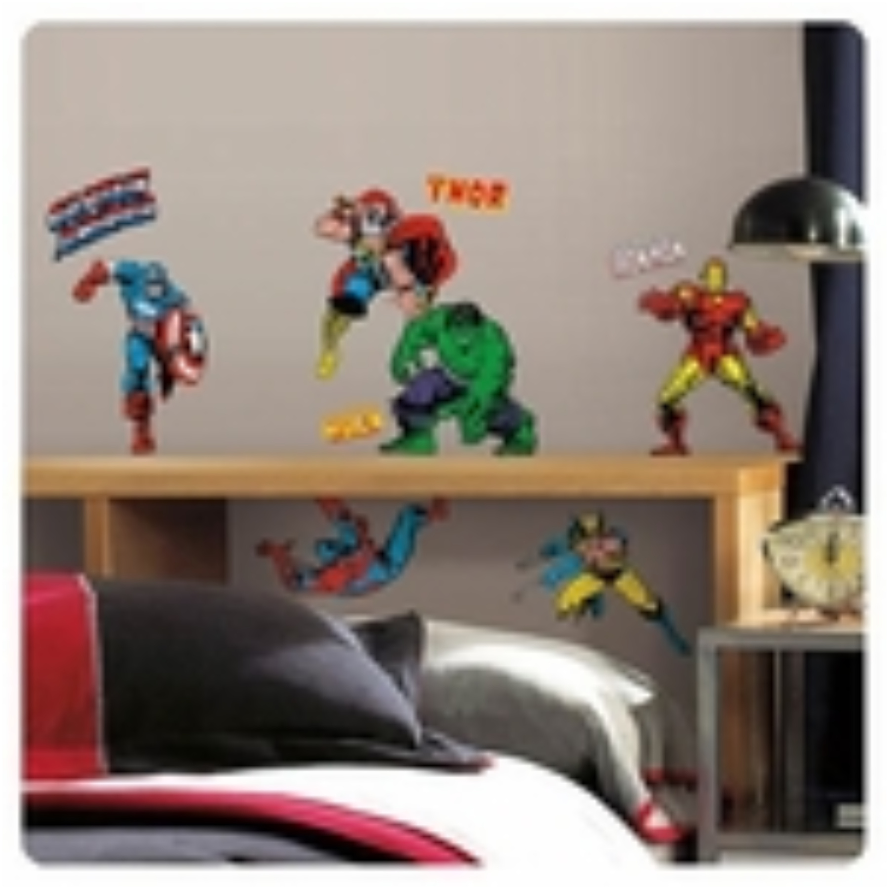 Marvel 10016287 Marvel Classics Superheroes Wall Decals 10016287