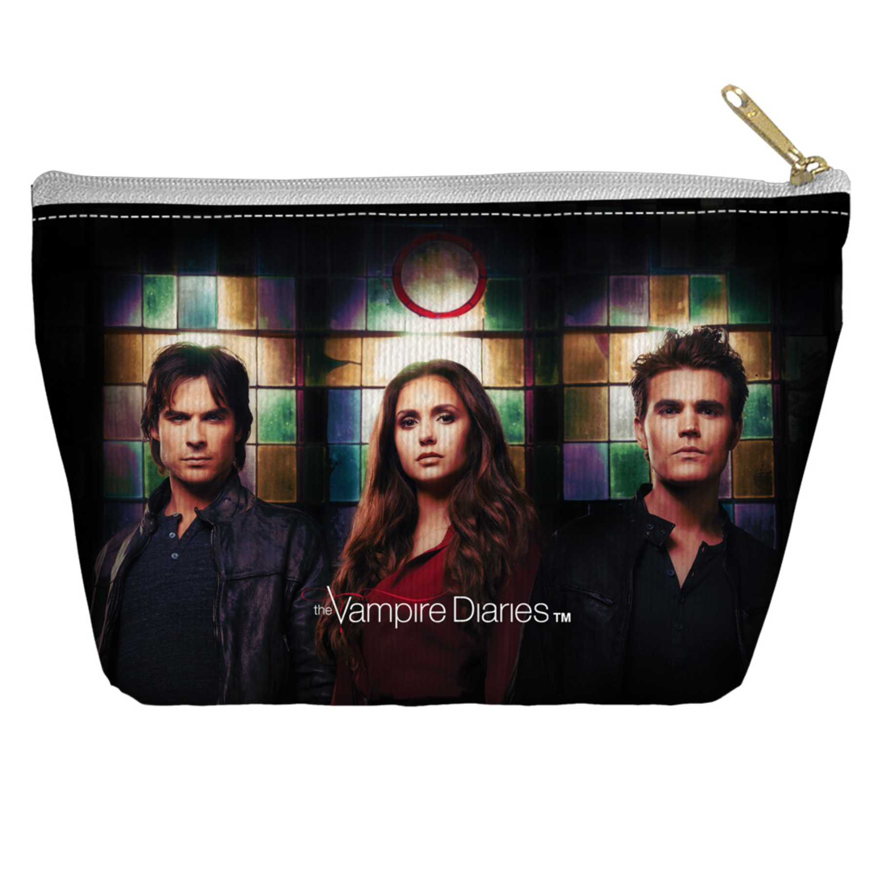 Vampire Diaries/Stained Glass Accessory Pouch White 12.5x8.5 By Trevco TREV-WBT459-PCH2-12.5x8.5