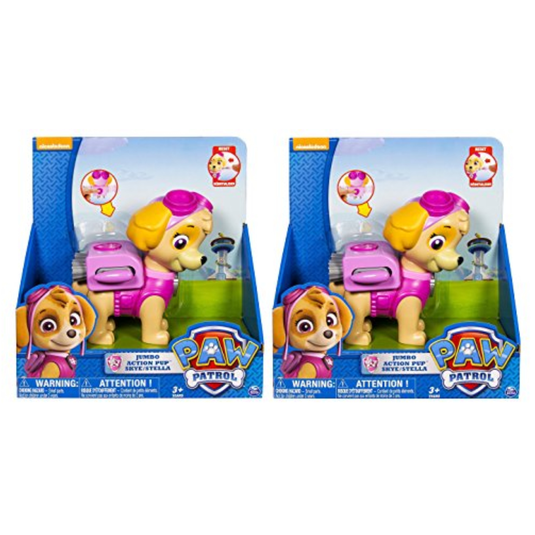 Paw Patrol Jumbo Action Pup Toy, Skye Twin Pack