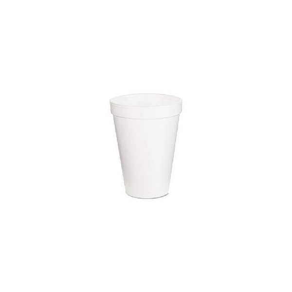 Foam Drink Cups, 12oz, White, 25/Bag, 40 Bags/Carton 12J12