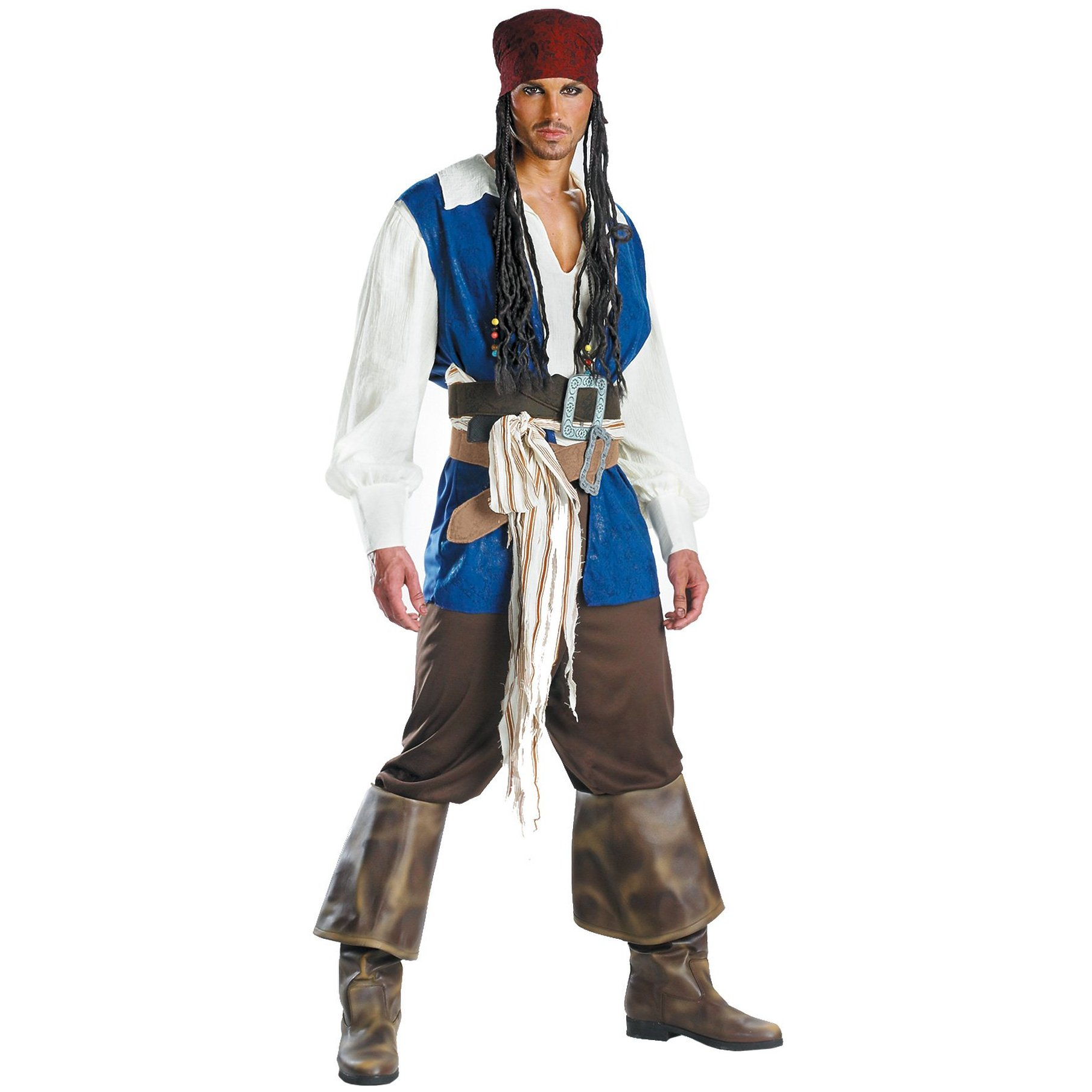 Captain Jack Sparrow Quality Costume As Shown Men 42-46 5101-DISG-I